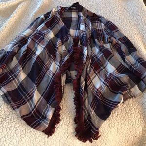 a plaid cardigan